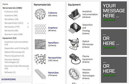 Nanowerk catalog banner ads