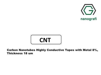 Carbon Nanotubes Highly Conductive Tapes with Metal 8%, Thickness 18 µm