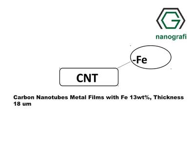 Carbon Nanotubes Metal Films with Fe 13wt%, Thickness 18 µm