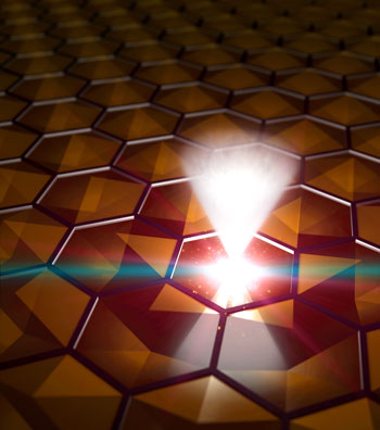 fast-moving, massless electrons inside a material