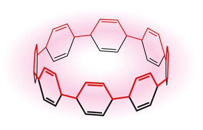 A cycloparaphenylene consisting of eight benzene rings