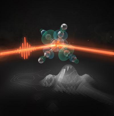 An ultrashort laser pulse activates iron pentacarbonyl as a catalyst