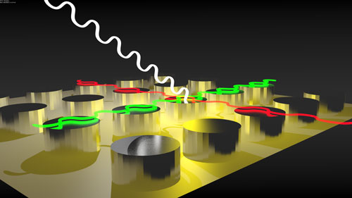 Magnetic nanoparticles arranged in arrays put a twist on light