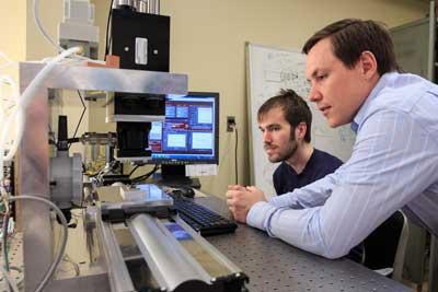 Brandon A. Krick and graduate student Mark Sidebottom