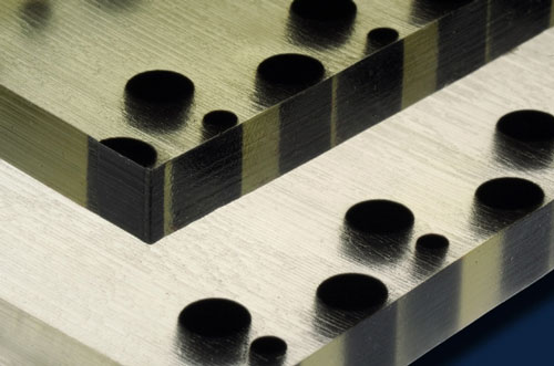 polymer material produced by a 3-D printer