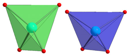 Tetrahedra with a nickel atom at their centre