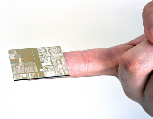 Close up of the 7nm node test chip