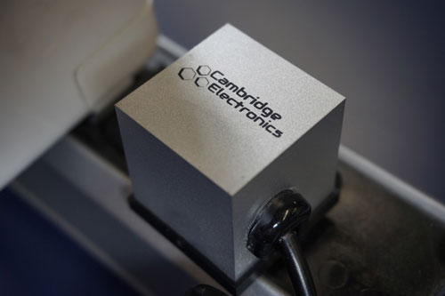 laptop power adapter made by Cambridge Electronics using GaN transistors