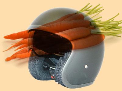 motorcycle helmets made of carrot fibers