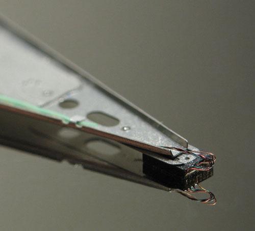 A hard drive read/write head