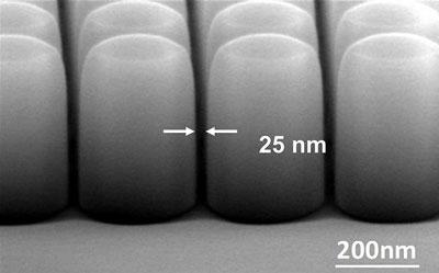 Extremely scaled nanoDLD gap