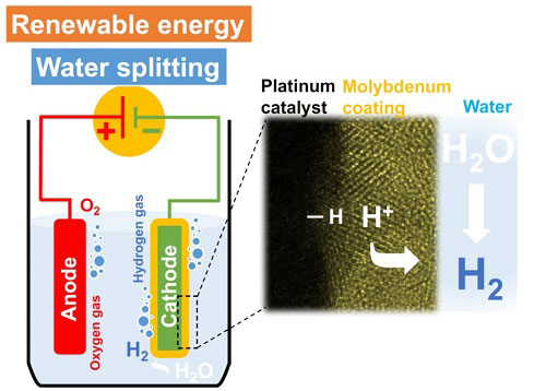 A novel molybdenum-coated catalyst for efficient hydrogen production