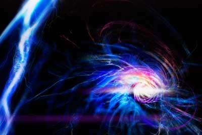 Kunstnerisk inntrykk av en quantum ball belysning