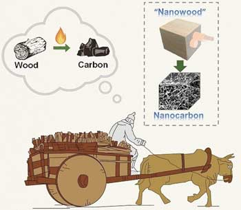 Wood to supercapacitors