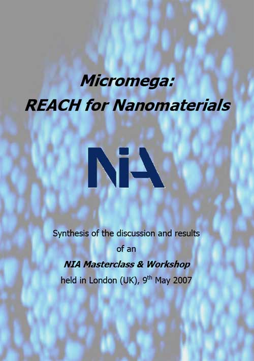 NIA Masterclass & Workshop: REACH for Nanomaterials