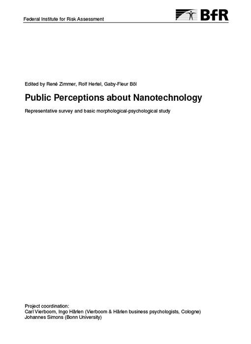 Public Perceptions about Nanotechnology