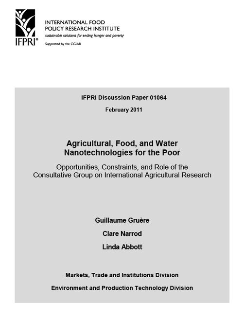 Agricultural, food, and water nanotechnologies for the poor