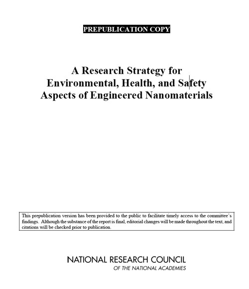 A Research Strategy for Environmental, Health, and Safety Aspects of Engineered Nanomaterials