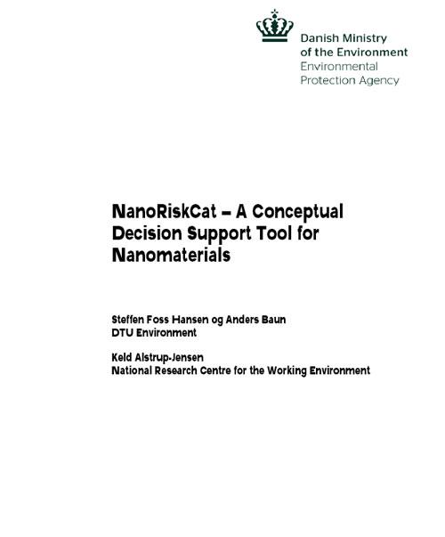 NanoRiskCat - A Conceptual Decision Support Tool for Nanomaterials