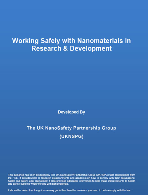 Working safely with nanomaterials in research & development
