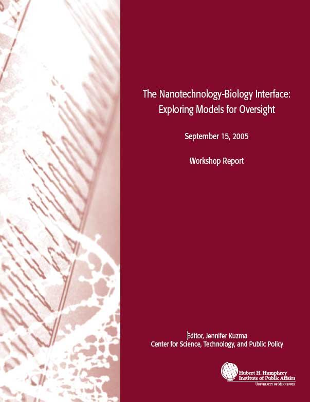 The Nanotechnology-Biology Interface: Exploring Models for Oversight