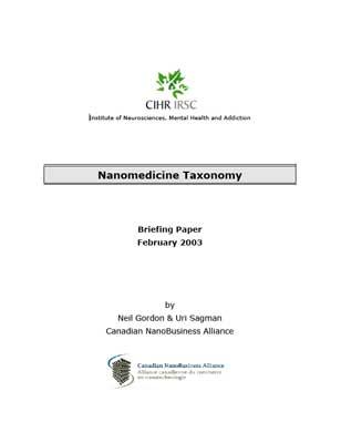Nanomedicine Taxonomy