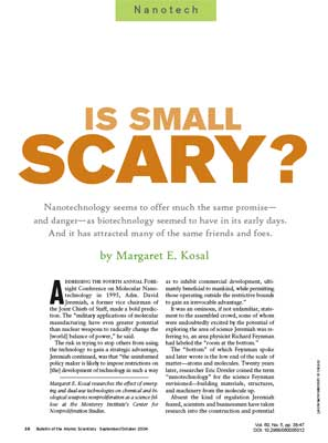 Nanotech: Is small scary?