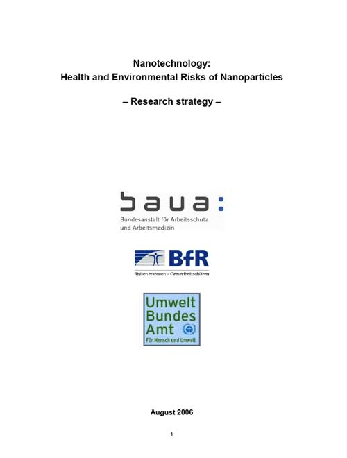 Nanotechnology: Health and Environmental Risks of Nanoparticles