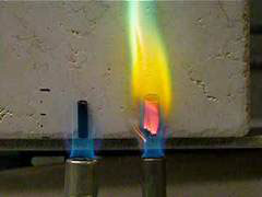>two versions of the aerogel -- the RF-only version (left) and the mixed version (right)