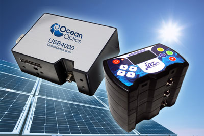 Ocean Optics' USB4000 spectrometer and Jaz sensing suite for photovoltaic applications