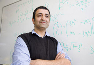 Navin Khaneja of the School of Engineering and Applied Sciences conducts research into the field of control theory, which uses mathematical models to examine the relationship between inputs and outputs of different systems