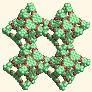 >Structure of a covalent organic framework