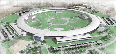 >Artist's rendering of the National Synchrotron Light Source II
