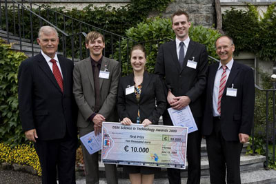 >Swiss researcher Alexandra Teleki has won the first prize in the DSM Science and Technology Awards (South) 2009