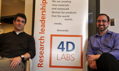 4D LABS executive director Neil Branda and nanofabrication director Byron Gates