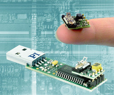 P-653 Linear Motor and demo kit on USB stick driver board