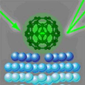 Scientists have imaged the complete structure of C60 molecules on a silver surface with electron diffraction