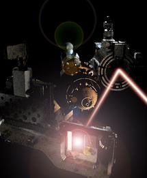 Experimental set-up at the FLASH laser used to discover the new state of matter.