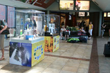 Educational nanotechnology exhibit at Rensselaer rail station