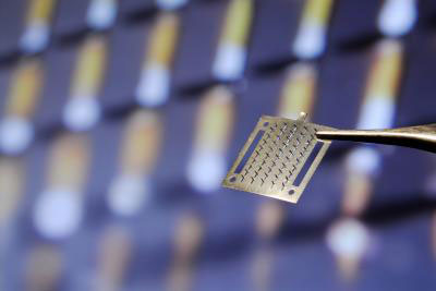An array of microneedles like this could be coated with medicine and act as a painless drug delivery system for flu vaccines, diseases of the eye and more