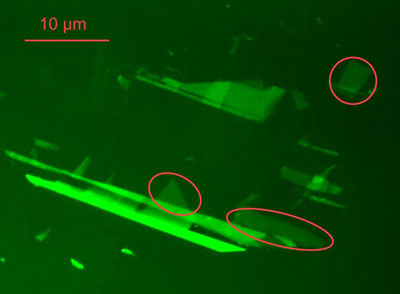 The normally practically invisible single-carbon-atom layers can be made visible under a normal light (optical) microscope, if the support (layer) is designed as an anti-reflection filter