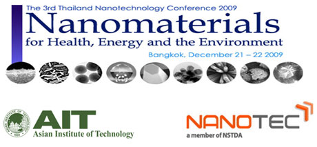 The 3rd Thailand Nanotechnology Conference 2009 Health, Energy, Environment