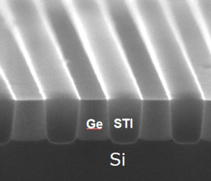 X-SEM picture of the Ge-in-STI structure