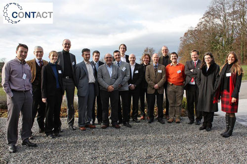 The partners in the CONTACT network at the project kick-off meeting in November: Fraunhofer ICT, Oxford University, Bayer Technology Services, Polymaterials, Acciona, Amroy, Aimplas, I3N (Institute for Nanostructures, Nanomodelling and Nanofabrication), MFA (Nanostructures Laboratory - Research Institute for Technical Physics and Materials Science), Promolding