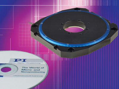 P-660 ultra-low profile, high speed rotary stage based on the latest PILine® piexo motor technology