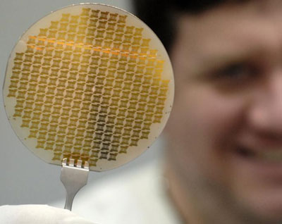 This graphene wafer contains more than 22,000 devices and test structures