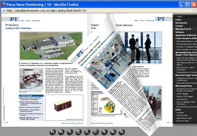 PI's Digital Flash Catalog on Piezo Technology and Nanopositioning