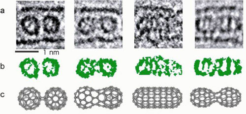 electron microscope images of the C60 fullerene molecules