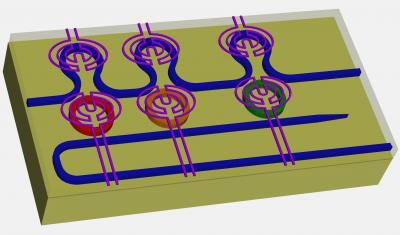 Design Diagram of the New Silicon Microring Resonators