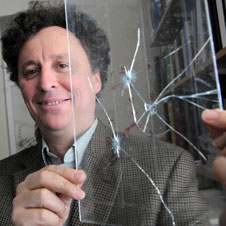 Alain Karma examined how cracks form in different materials